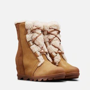 NWT Sorel Joan of Arctic Wedge II Shearling Boot
